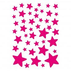 Stickers - Planche d'étoiles Rose fluo