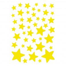 Stickers - Planche d'étoiles Jaune fluo
