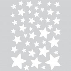 Stickers - Planche d'étoiles Blanc