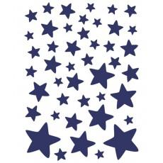 Stickers - Planche d'étoiles Bleu nuit
