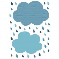 Sticker - Planche nuages et gouttes Bleu gris