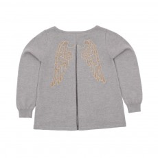 Pull  Ailes Massy Gris chiné