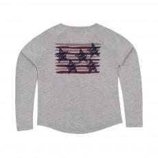 T-shirt Etoile Tommy Gris chiné