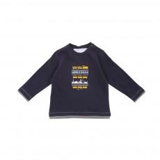 T-shirt Imprimé Voyage En Orient  Bleu marine