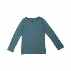 T-shirt Manches Longues Bleu Vert