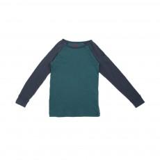 T-shirt Bicolore Bleu canard