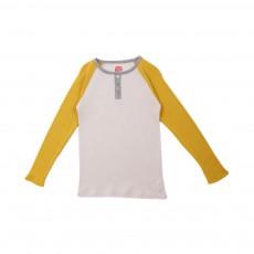 T-shirt Raglan Tricolore Jaune