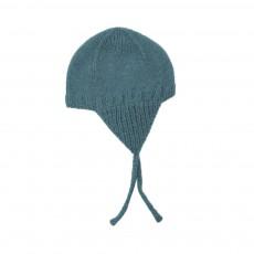 Bonnet Péruvien Alpaga  Bébé Bleu Vert
