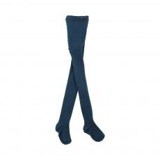 Collants Côtes Bleu canard