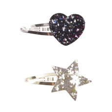 Lot Deux Barrettes Paillettes Multicolore
