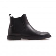 Boots Cuir Elastique  Noir