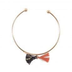 Bracelet Feuille Pompon Doré