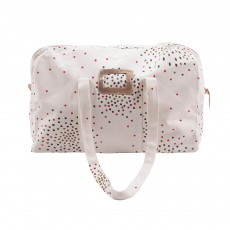 Sac Weekend Manuel Small Pois Vanille
