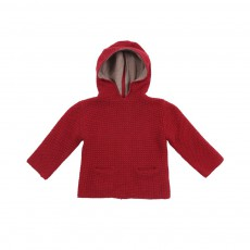 Pull Gaufre Rouge
