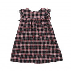 Robe Carreaux Oxford Rouge