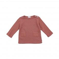 T-shirt Pois Suzette Vieux Rose