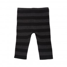 Leggings Maille Rayé Franci Gris anthracite