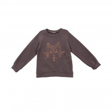 Sweat Loup Marron glacé