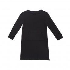 Robe Molleton Nuage  Noir