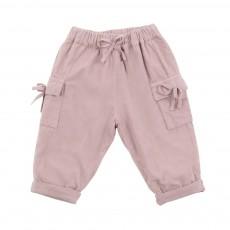 Pantalon Bébé Velours Rose pâle