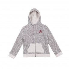 Sweat Zippé Capuche Gris chiné