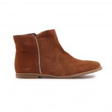 Boots Zippées Marron