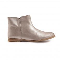 Boots Zippées Doré