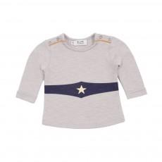 T-shirt Superpower Gris perle