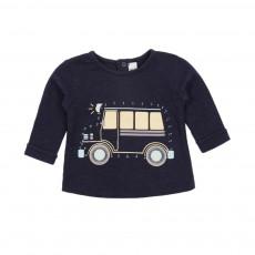 T-shirt Dessine Moi Bus Bleu marine