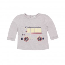 T-shirt Dessine Moi Bus Gris clair