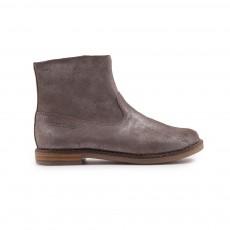 Boots Cuir Zippées Trip Argenté