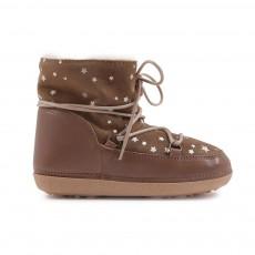 Boots Fourrées Etoiles Anouk Noisette