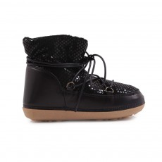 Boots Fourrées Etoiles Ton/Ton Anouk Noir