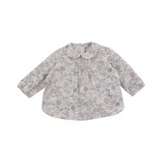 Blouse Liberty Col Claudine Bleu