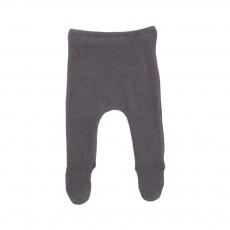 Pantalon Pieds Maille Gris