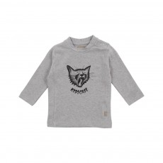 T-shirt Chat Organic Gris