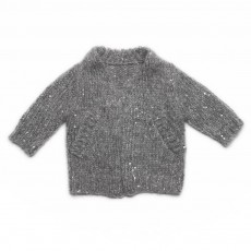 Cardigan Sequins Celaine Gris clair