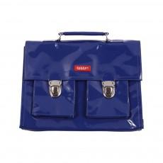 Cartable Mini Bretelles vinyle  Bleu marine