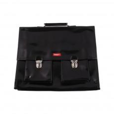 Cartable Bretelles grande classe vinyle Noir