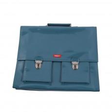 Cartable Bretelles grande classe vinyle Bleu pétrole