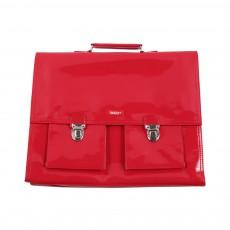 Cartable Bretelles grande classe vinyle Rouge