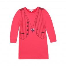 Robe Trompe l'Œil Gilet Rose