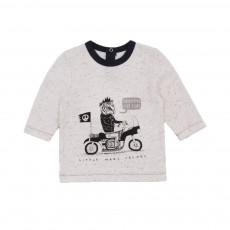 T-shirt Rock'n'Roll Ecru chiné