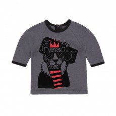 T-shirt Tigre Gris anthracite