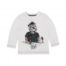 T-shirt Tigre Cartes Blanc