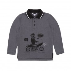 Polo Rock'n'Roll Gris anthracite