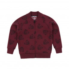 Sweat Teddy Tigre All over Bordeaux