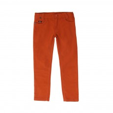 Pantalon 5 Poches Orange