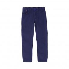 Pantalon 5 Poches Bleu