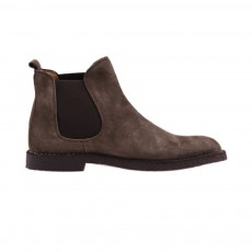 Boots Cuir Elastique Taupe